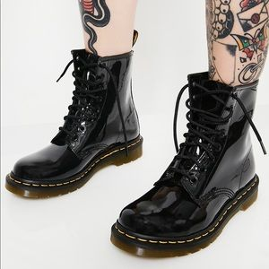 Dr Martens- Black Patent 1460 8 eye Boots
